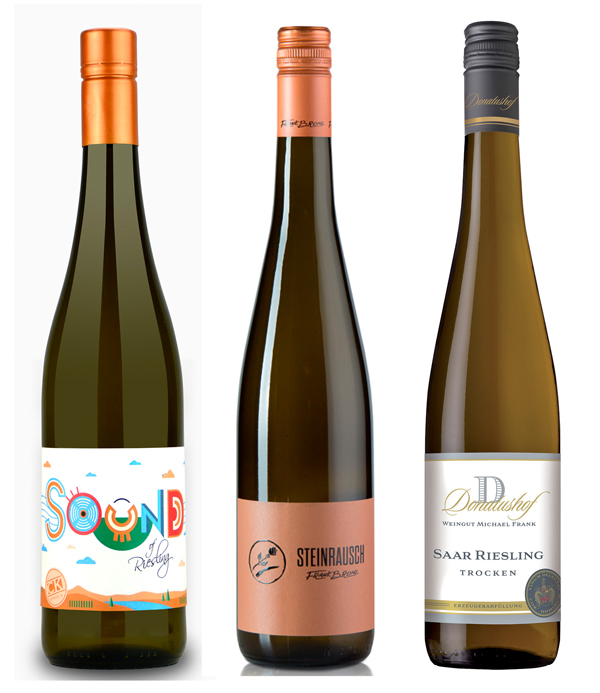 'Sound of Riesling' v. Christoph Koenen und 'Steinrausch' v. Frank Brohl; Donatushof Saar-Riesling, Foto: Bettina Meister