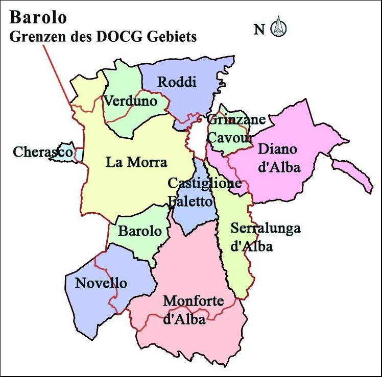Piemont Weinbau Karte.Piemont Gesegnetes Land Großartige Weine