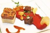 Duett vom Wildschwein mit Kartoffel, Rote Bete und Sellerie