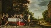Dialogauktion der SØR Rusche Collection bei Van Ham - Adam van Breen: Gesellschaft auf einer Terrasse, 1614
