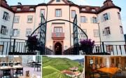 """Ein Neuer Stern geht auf: """"Goldes Loch"""" im Schloss Neuweier Wein und Speisen komplett neu gedacht – modernes Restaurant sowie hochelegante historische Salons. Unten zu sehen die Lage """"Goldenes Loch"""": Das Trapez in der Mitte der oberen Weinbergsreihe"""