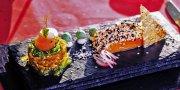 Duett von Lachs und Thunfisch, Restaurant das kleine Schwarze