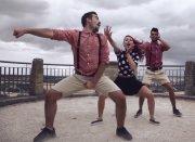 Die Gruppe #deeptalk aus Bretten tritt beim Trollinger Dance Contest mit dem Tanz 3 Engel für Trolli an. (Bild: Timo Pfitzenmeier)
