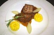 Duett vom Duroc-Schwein, Backe und Filet, Rezept vom Hotel Miramar auf Sylt