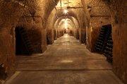 In vielen Champagner-Kellereien existieren kilometerlange Gänge, die über Generationen in die Kreidefelsen geschlagen wurden, wo die edlen Tropfen reifen.  Foto: Michel Guillard, Comité Interprofessionnel du Vin de Champagne (CIVC)