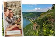 """Mosel: Neue Broschüre """"Zu Gast beim Winzer"""" vor der Kulisse von Ürzig."""