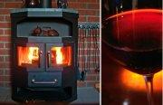 Am bullernden Kaminfeuer mit einem guten Rotwein, das macht an kalten Winterabenden Spaß.