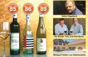 Die besten Weine mit Restsüße der bonvinitas Weinbewertung v. 22.10.2018 ein Kaiserstühler Muskateller, ein Australier und einmal Scheurebe Pfalz