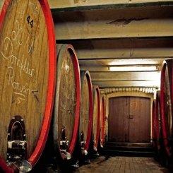 Holzfasskeller im Weingut Espenhof