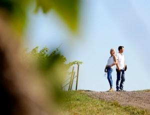 Weingut Carsten Bus in Insheim in der Südpfalz. Carsten Bus mit Ehefrau Sandra