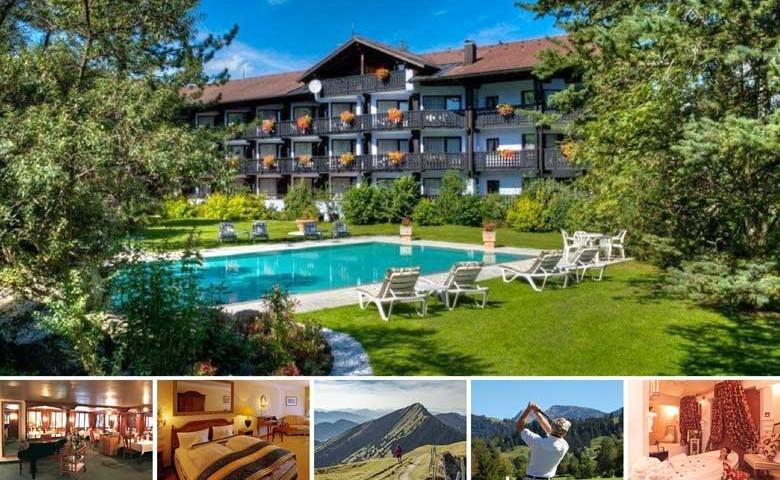 Entspannen hoch5: Hotel Ludwig Royal in Oberstaufen, super Hotel – Alpenluft, schöne Touren, Wellness, Golf …