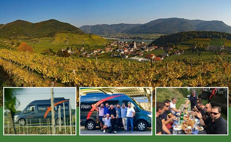 Tagesweintouren mit WeinX1 durch Österreichs Weinregionen mit Michael Höffken von Wien oder Neusiedl aus. Oben Spitz an der Donau in der Wachau