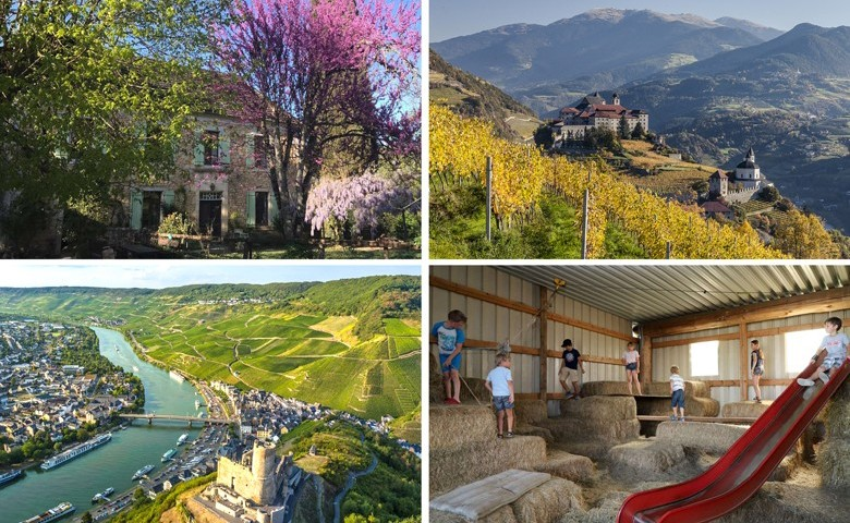 Alle Medien: Prämierte Beliebteste Ferienhöfe – nah bei Weinbaugebieten. Bildbeschreibungen siehe im Artikel unten.