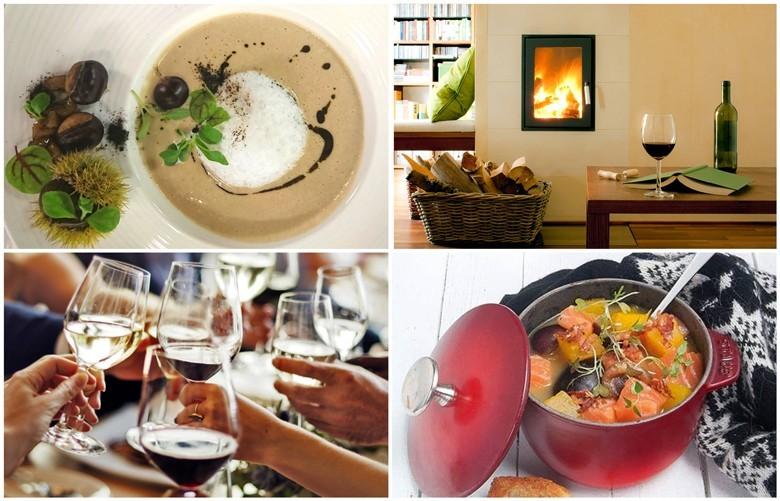 Den goldenen Herbst genießen: kräftigere Weine und Speisen, Gemütlichkeit, Freunde