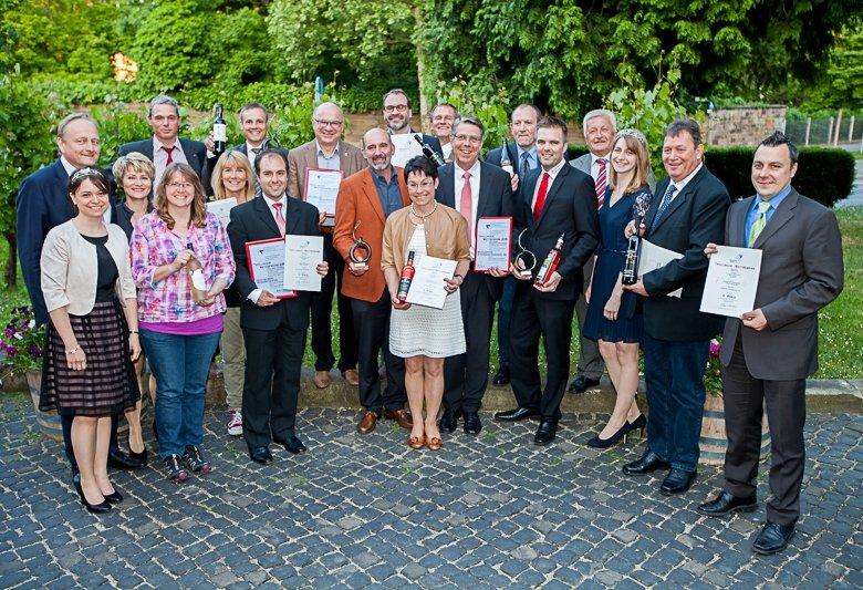 Die Sieger des 18. Trollinger-Wettbewerbs der Württemberger Weingüter in Heilbronn.