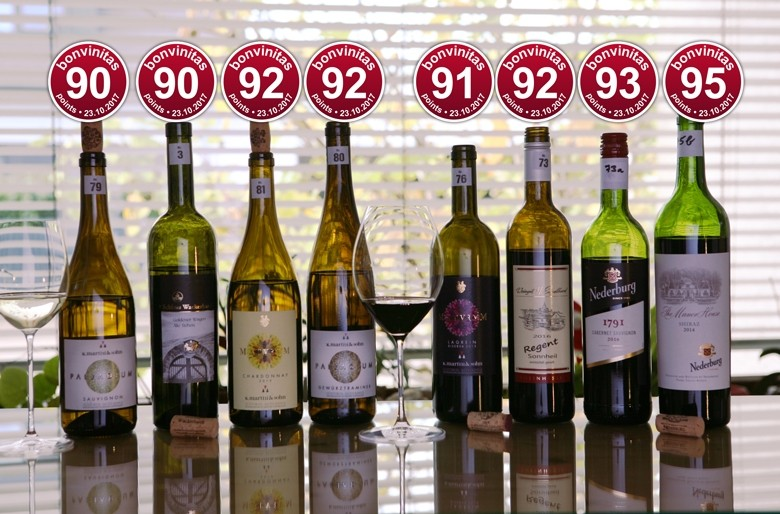 Beste Weine der bonvinitas Weinbewertung vom 23.10.2017: