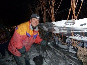 Eisweinlese in der Frostnacht 8./9. Dez. 2012