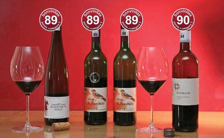 Ausgezeichnete PIWI-Rotweine – bis 90 bonvinitas Punkte aus der bonvinitas Weinbewertung vom 22.3.2021 – Weine, die echt Beachtung verdienen!