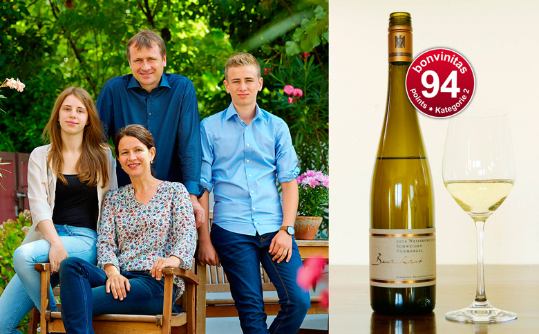 Familie Gerd und Sabine Bernhart; VDP Weingut Bernhart in Schweigen; großartiger Weißburgunder.