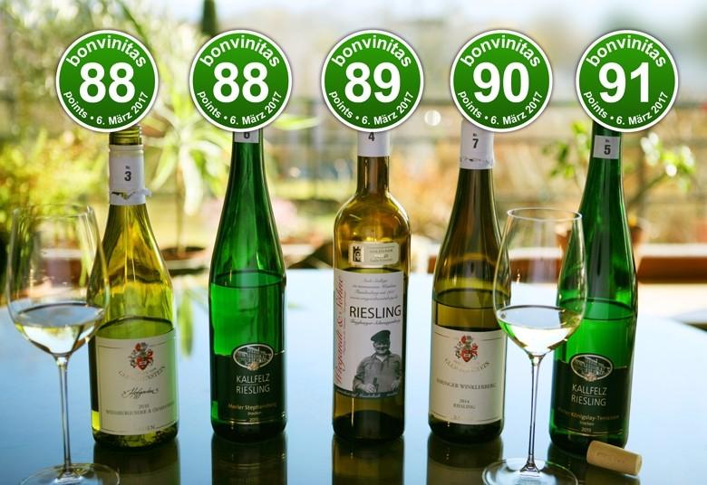 - Großartige leichte und trockene Weine Beste der Kategorie 1 der bonvinitas-Weinbewertung vom 6.3.2017