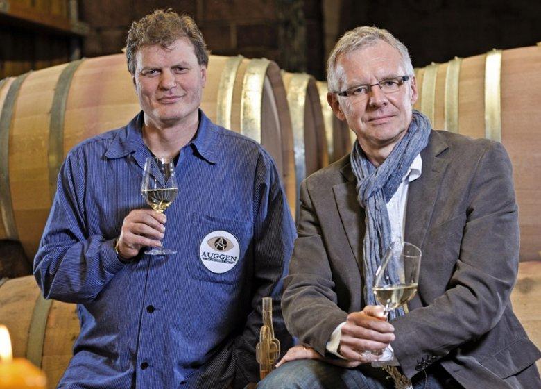 Kellermeister Andreas Philipp und Geschäftsführer Thomas Basler vom Winzerkeller Auggener Schäf dürfen sich mit Recht als Sachwalter des Gutedels fühlen.