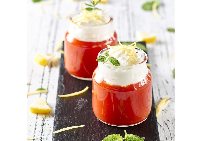 Überraschend-fruchtig-frisch: süßes Dessert aus Tomaten