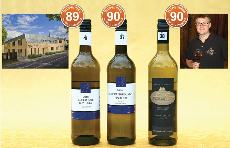 Die besten milderen der Kategorie 3 dieser bonvinitas Weinbewertung kamen vom Weingut Bechtel, Rheinhessen, mit Hotel und Vinothek, sowie vom Winzerverein Meersburg/Bodensee – im Bild Kellermeister Valentin Wagner
