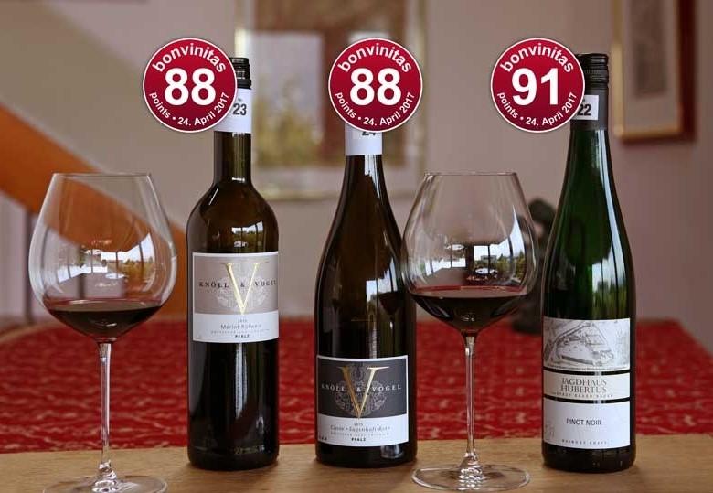 Die besten trockenen Roten: Weinbewertung vom 24.4.2017