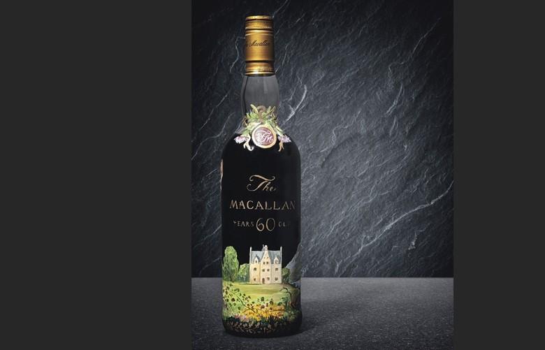 Weltrekord: Eine Flasche Whisky für 1.352. 400 Euro versteigert eine Macallan 1926 - 60-Year-Old Malt Unikatflasche handbemalt von Michael Dillon