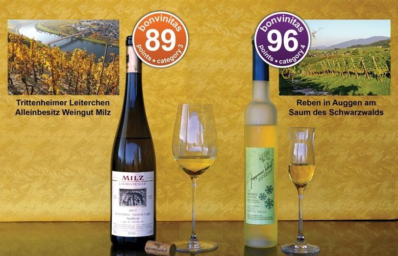 bonvinitas-Weinentdeckungen: opulenter Mosel und ein geradezu diamantener Eiswein; VDP Weingut Milz und Winzerkeller Auggener Schäf