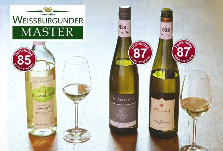 WEISSBURGUNDER MASTER – beste Weine der Trendsorte in der bonvinitas-Bewertung vom 27.4.2016