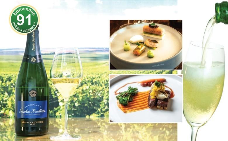 Champagner – mit super Food-Pairing. Beispiel: Champagne Nicolas Feuillatte mit prima Genuss-Ideen von der Linde in Stuttgart – mit Rezepten