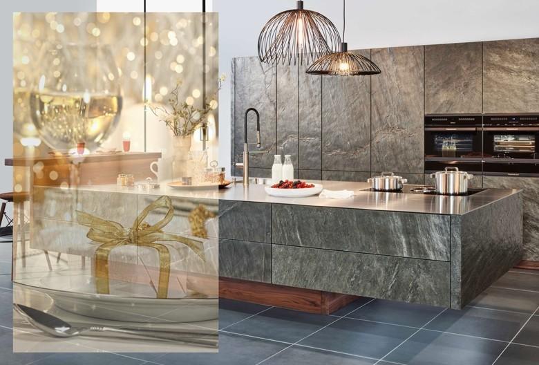 """Küche """"Stone oceangreen"""" von Zeyko."""