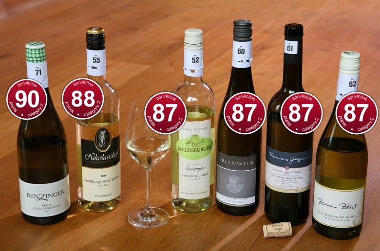 Super Weißburgunder - Beste aus der bonvinitas-Bewertung der Kategorie 2 vom 4. Mai 2015