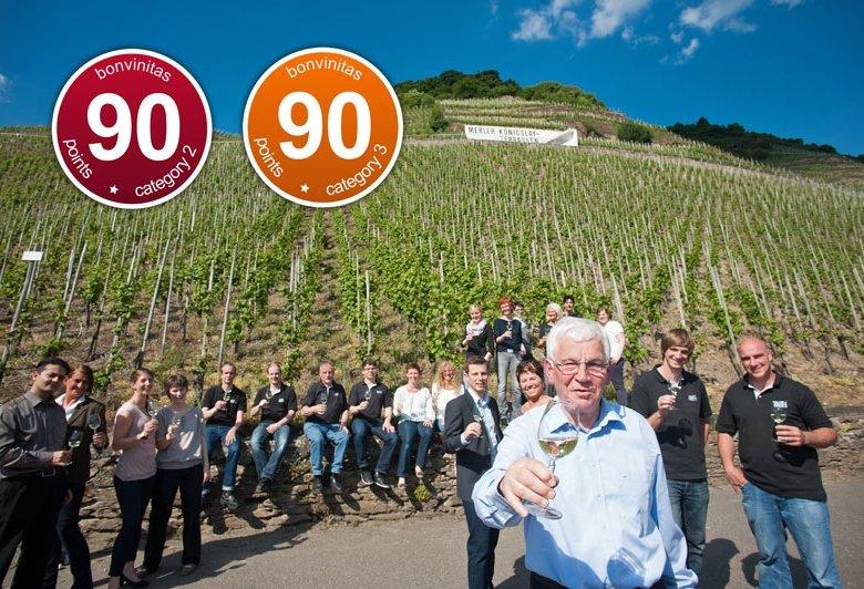 Weingut Albert Kallfelz, Zell-Merl an der Mosel: zweimal 90 Punkte!
