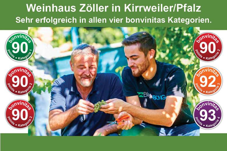 Vater Thomas und Sohn Felix Zöller, Weinhaus Zöller, Kirrweiler.