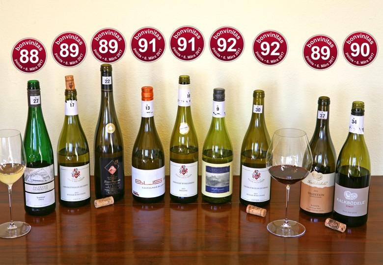 - Wunderbare Weine – von 88 bis 92 Punkte Beste Tropfen der bonvinitas Weinbertung vom 6.3.2017.