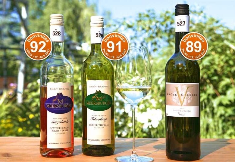 Die besten Weine mit Restsüße der Weinbewertung vom 12. 6.2017