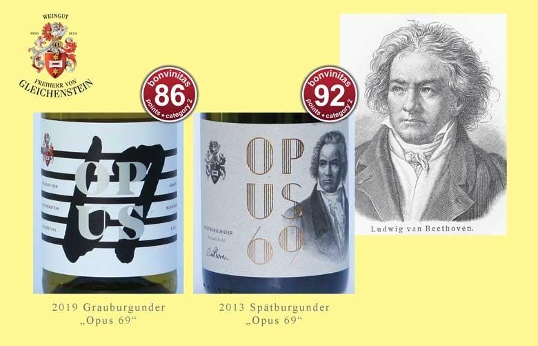 """""""Opus 69"""" Grau- und """"Opus 69"""" Spätburgunder im Beethovenjahr vom Weingut Freiherr von Gleichenstein – Vorfahre war mit Beethoven eng befreundet"""