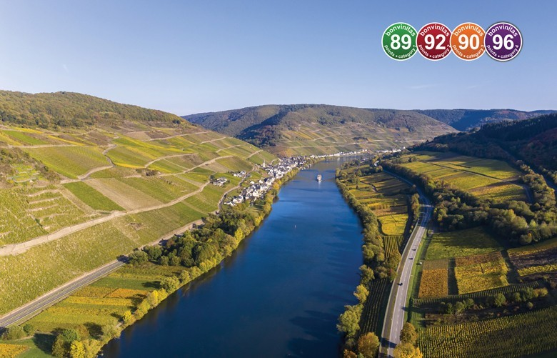 WELTKLASSE RIESLINGE von der Mosel: gereift, frucht- und edelsüß hier die Besten der bonvinitas-Weinbewertung vom 29.8.2019