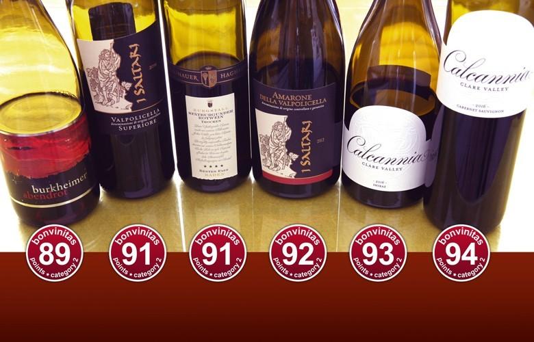 Großartige Rotweine – die besten der bonvinitas-Bewertung 25.2.2019: trocken, wuchtig, elegant - von Baden über Italien bis Australien