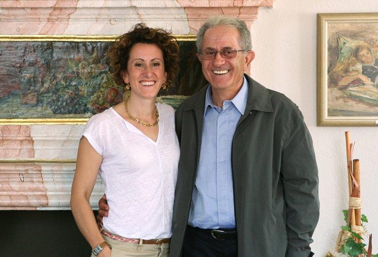 Elio Altare mit Tochter Elena, die in Bamberg eine Weinagentur betreibt.
