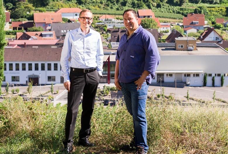 Bester: Winzergenossenschaft Achkarren, im Kaiserstuhl/Baden. Im Bild: Denis Kirstein, Geschäftsführer (links), Christoph Rombach, Kellermeister