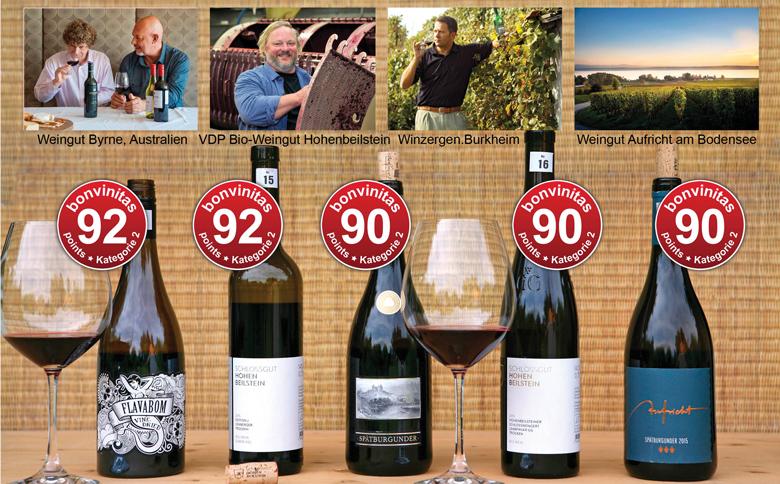 bonvinitas Weinbewertung: Die besten Rotweine trocken - Kategorie 2