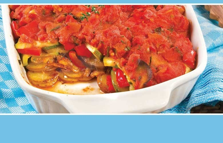 Tumbet – echt Mallorca und super mit schönem Rotwein. Kartoffel – Gemüse – Kräuter – Tomaten, vegetarisch wie auch als Beilage. Foto: Tegut Einzelhandel