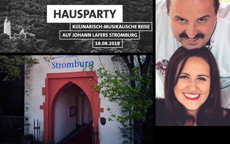 18.8.2018: Johann Lafer und Ehefrau Silvia geben rauschendes Fest. Im Bild ist die Moderatorin Lilly Kürten.