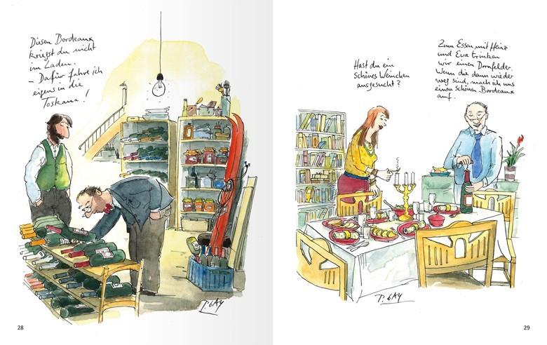 Trüffelschweine und Naschkatzen - auf die Schippe genommen. Total witziges Buch mit Cartoons von Peter Gaymann