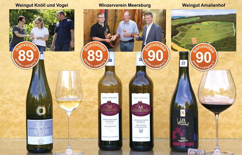 Aus der bonvinitas Weinbewertung 20.8.2018: die besten Weine mit Restsüße