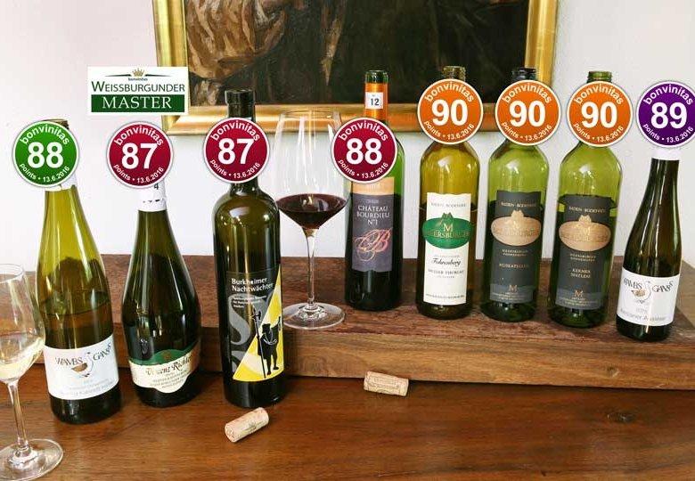 Beste Weine der bonvinitas Weinbewertung vom 13.6.2016