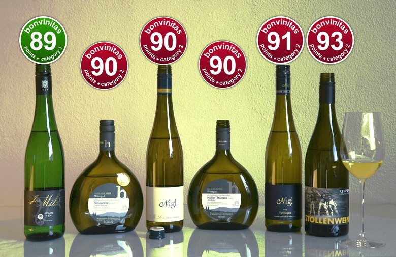 bonvinitas Wein-Entdeckungen: top trockene Weißweine von klasse trocken-leicht bis superindividuell: Milz VDP, Hillabrand, Nigl